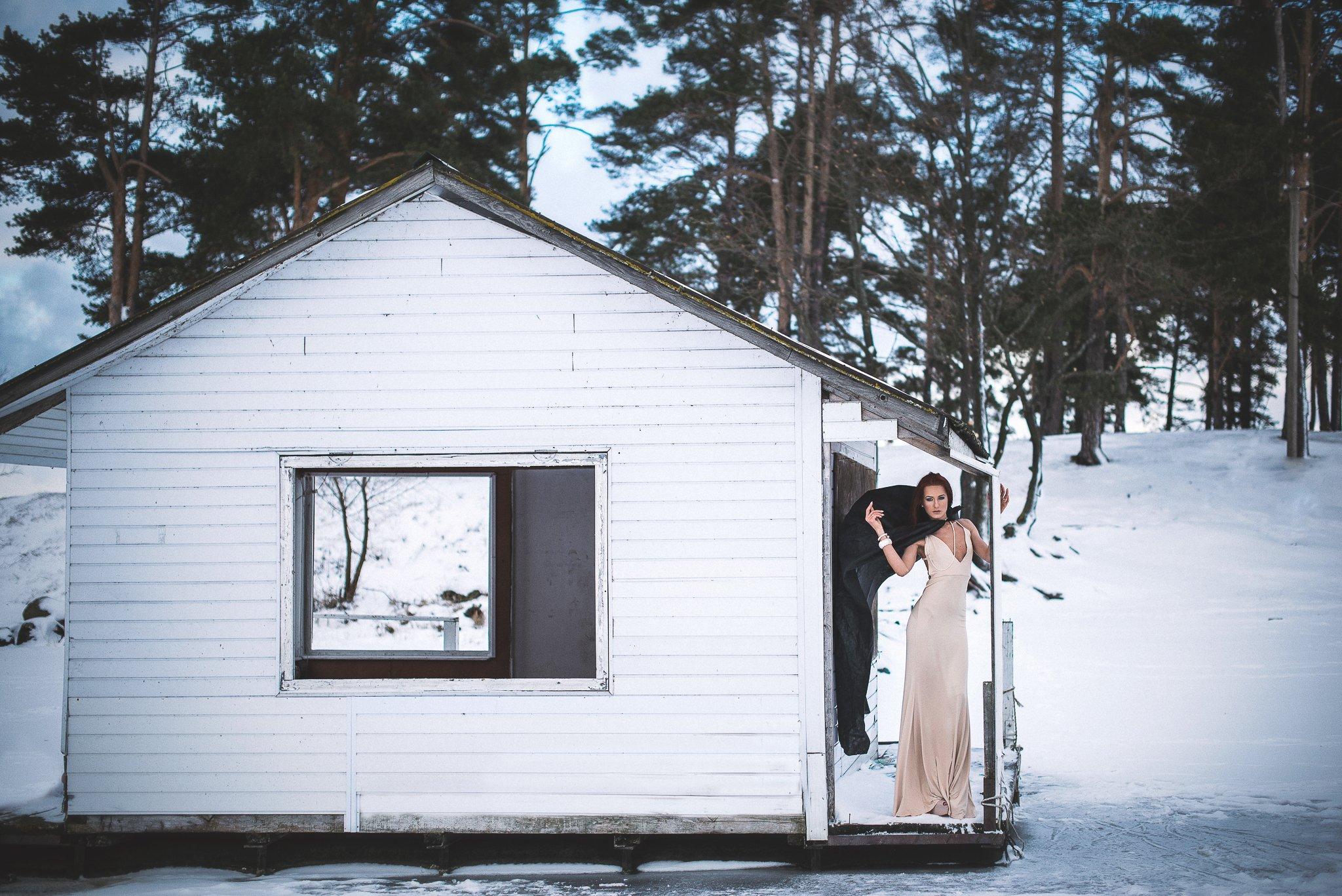 winter, snow, portraiture, female, outdoors, fashion, portrait, Laura Žygė