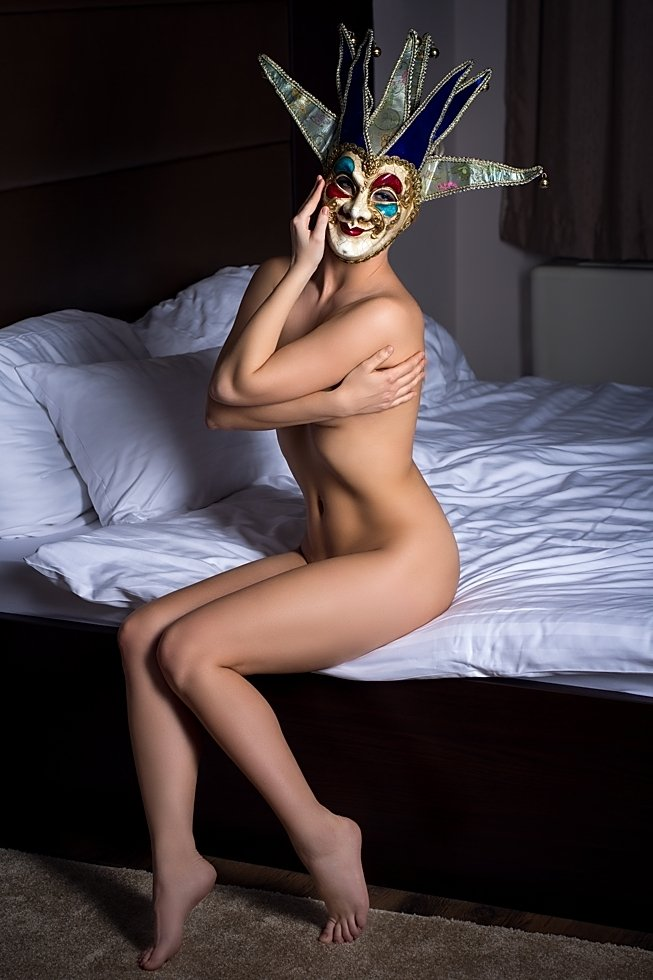 model, nude, naked, glamour, woman, female, color, body, sexy, sensual,  curves, portrait, erotica,  fine art, blondie, bedroom, pose, mask,, Lajos Csáki