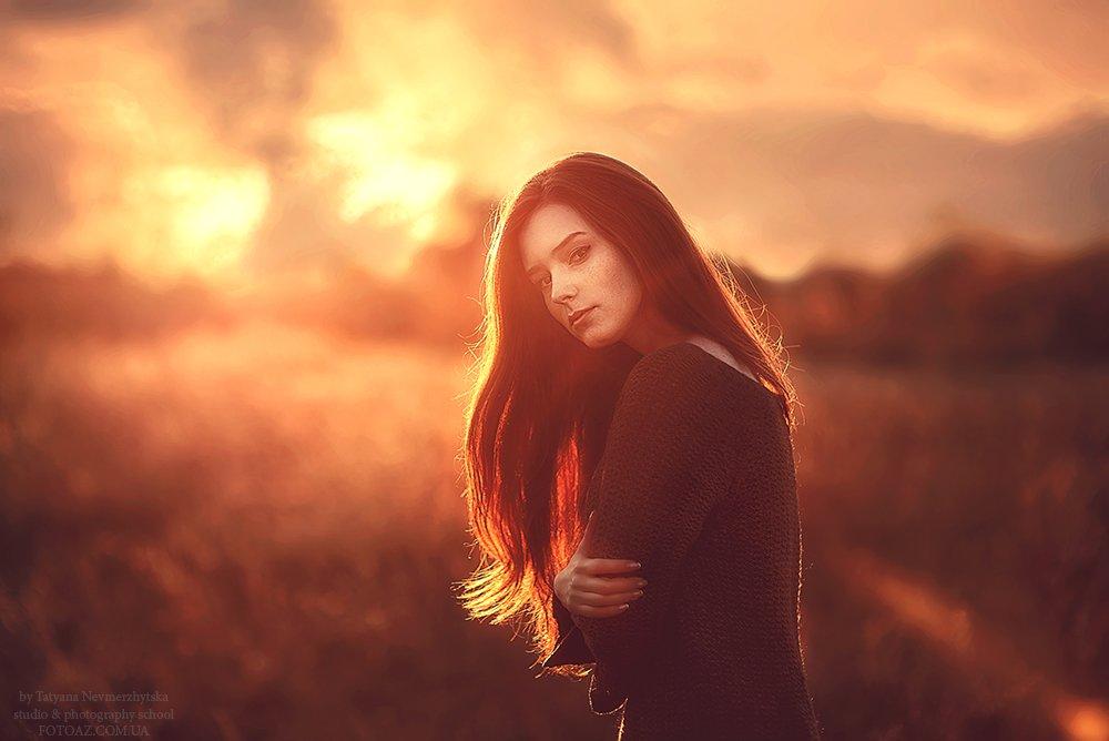 портрет, закат, контровый свет, Невмержицкая Татьяна