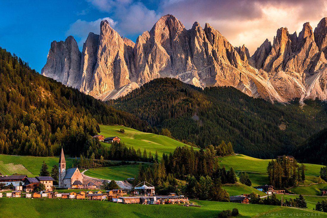 italia, italy, alps, dolomiti, dolomities, mountains, rocks, sunset, colours, peaks, Tomasz Wieczorek