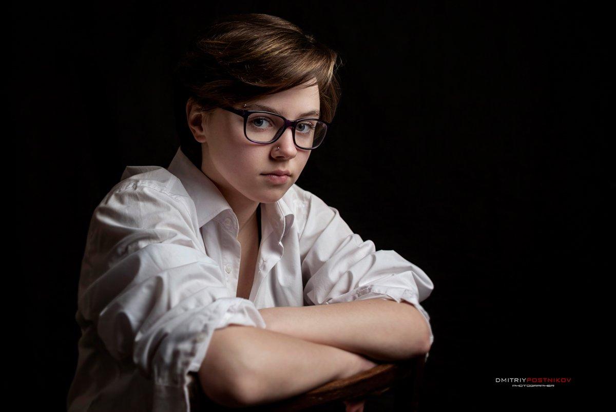 портрет,девушка,студия,, Дмитрий Постников.