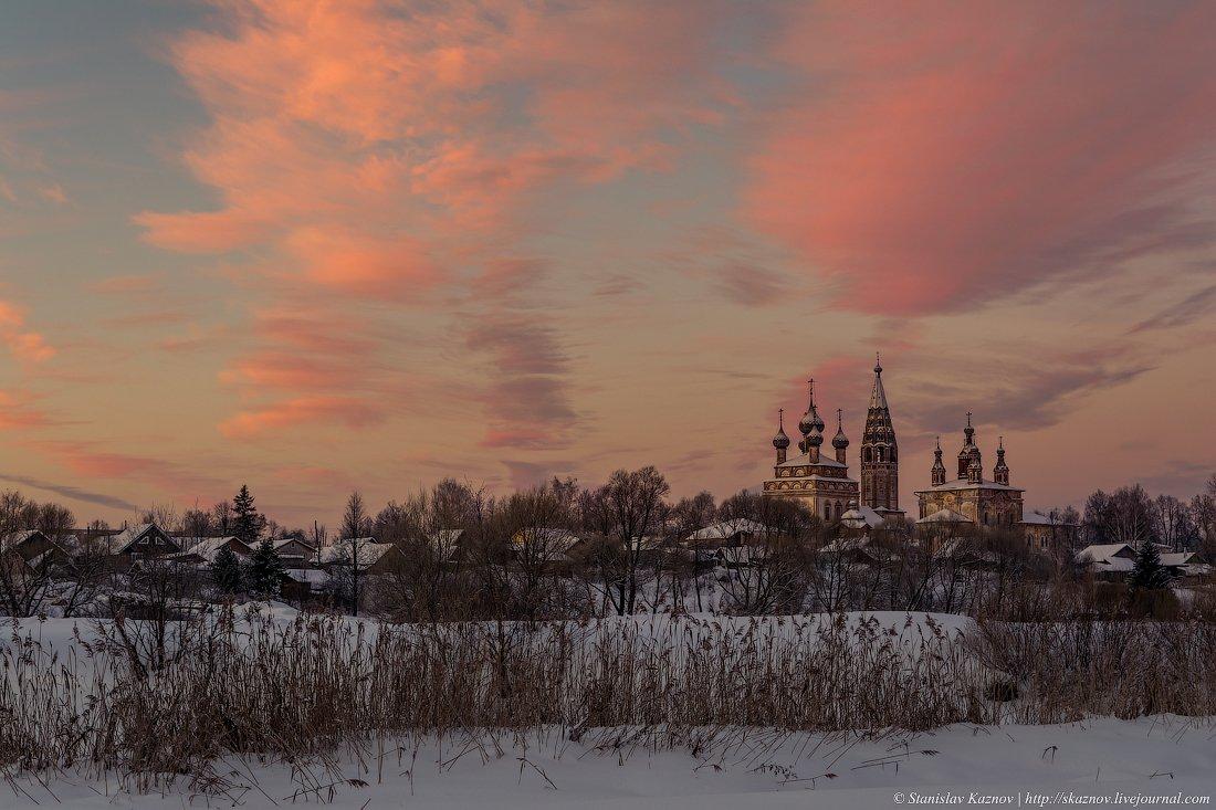 утро, пейзаж, рассвет, зима, Станислав Казнов