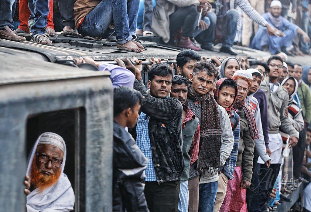 поезд, пассажир, толпа, взгляды, лица, вагон, бангладеш, Алла Соколова