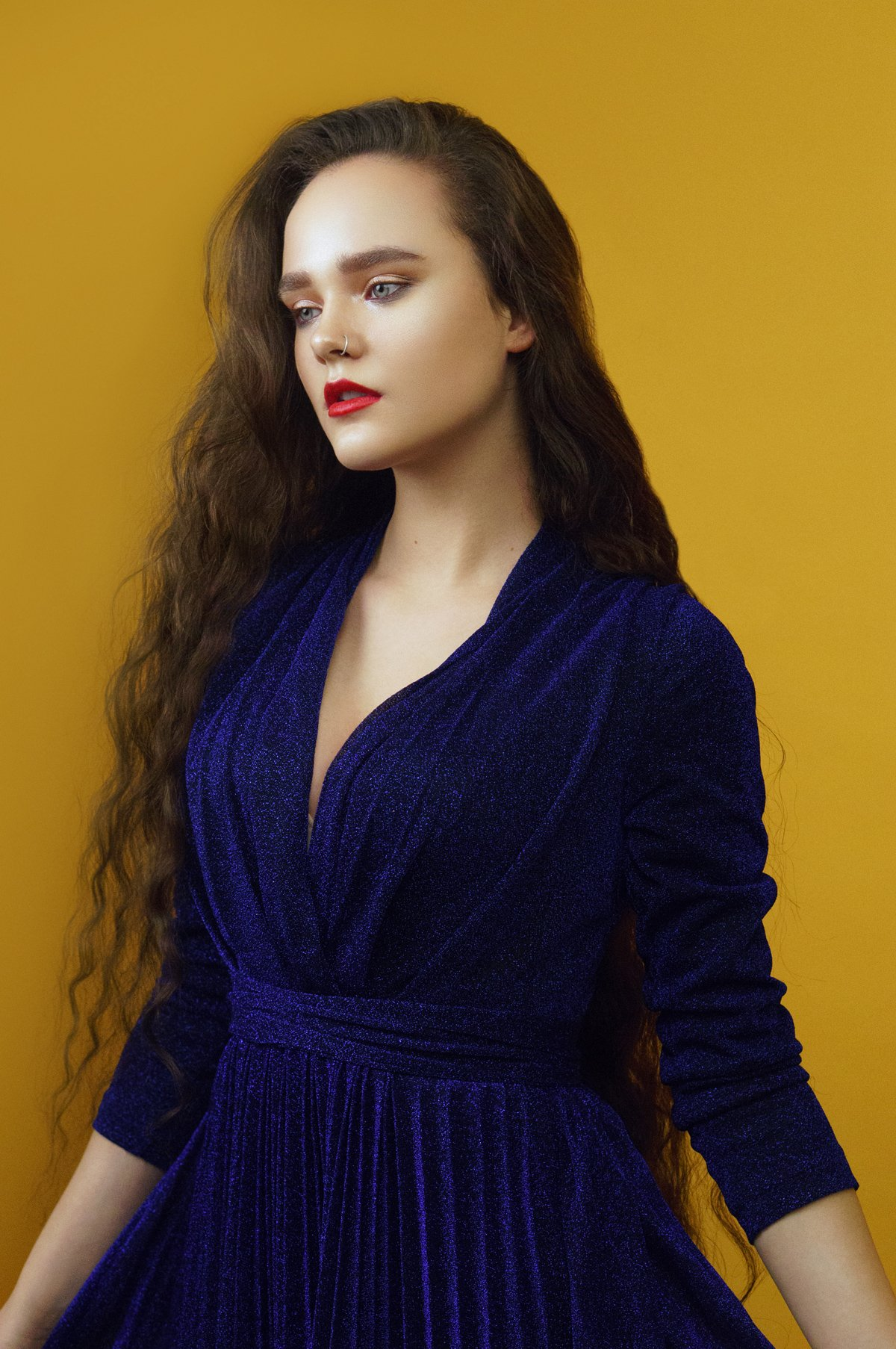 colour, bright, blue, yellow, girl, hair, long, , Наташа Янкелевич