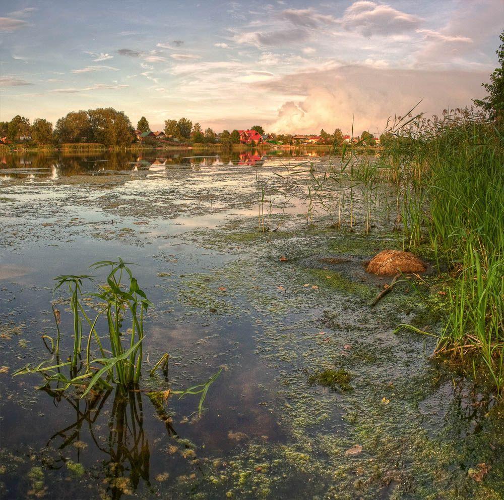 озеро, вечер, пейзаж, Mishin Ilay