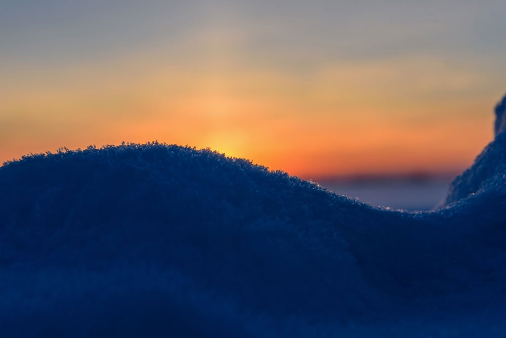 зима, закат, winter, sunset, Iri_sha