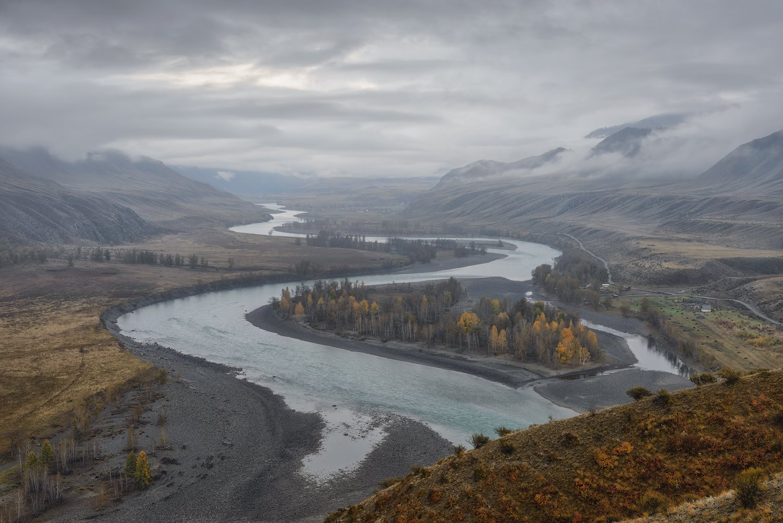 пейзаж, алтай, туман, облака, осень, Dmitriy  Baginskiy
