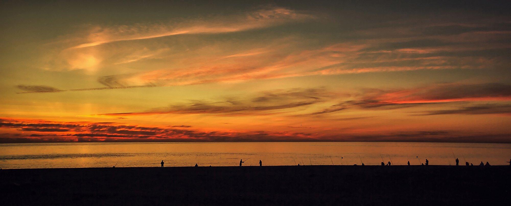 #рыбаки #море #солнце #узоры #сочи #природа #пейзаж #рисунок #закат, Сергей Найбич