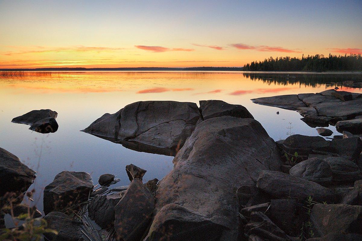 карелия, охта, закат, озеро, пейзаж, d80, Лопухов Сергей