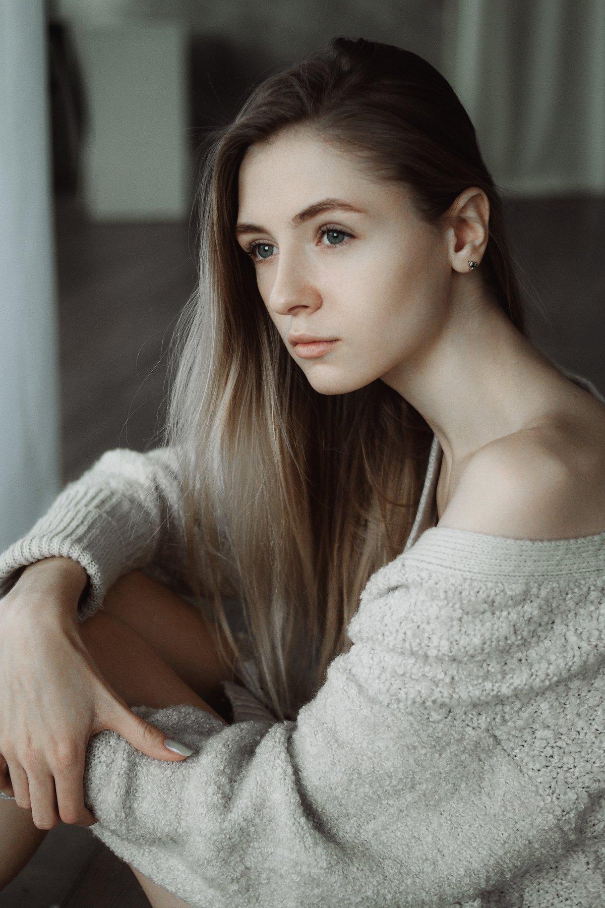 девушка, портрет,  натуральный свет,  модельные тесты, студия, Иван Копченов
