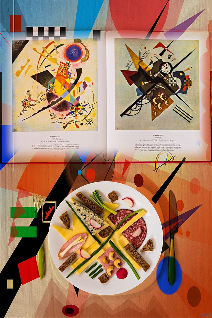 abstract, abstract art, color, colors, color image, concept, conceptual, conceptual art, conceptual image, image, lunch, kandinsky, still life,, Dr Didi Baev