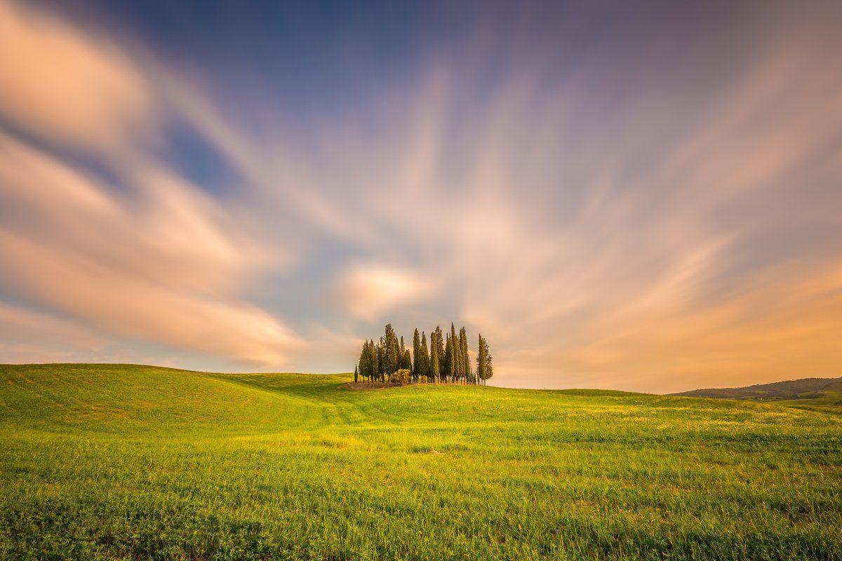 Val d'Orcia, Pienza, Tuscany, Longexposure, Sunrise, Sunset, Cypress, Long exposure, Lee, Ireland, Galway, Ryszard Lomnicki
