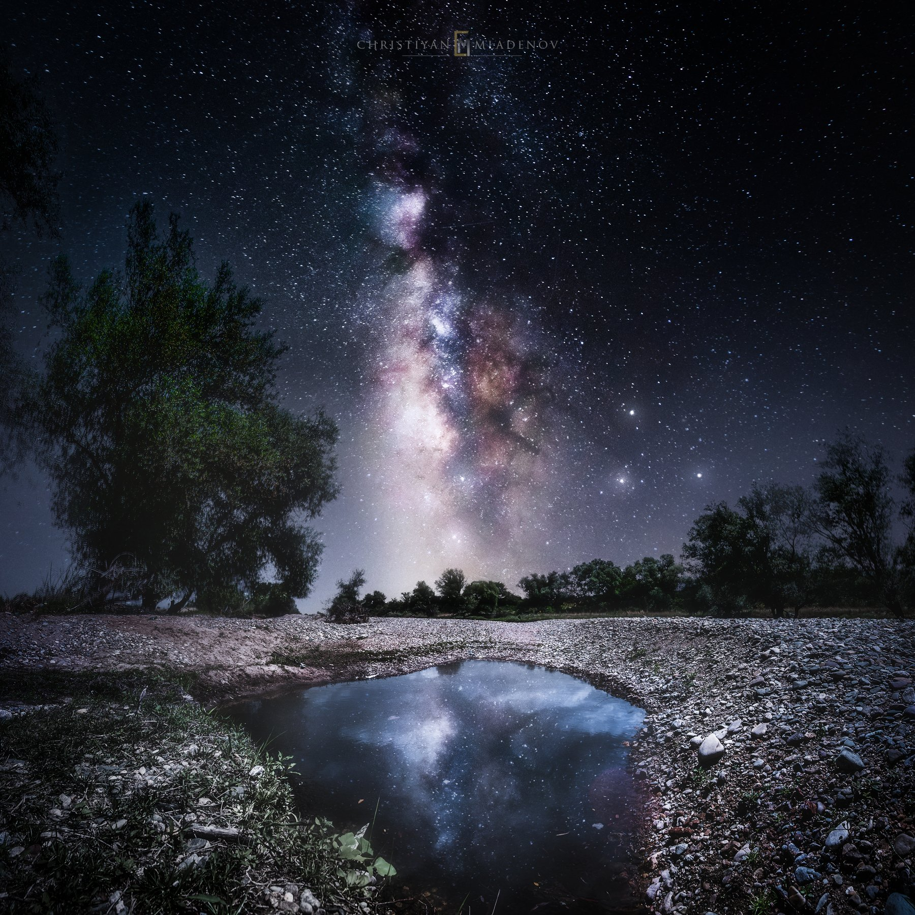 astrophotography, astronomy, galaxy, milky way, nightscape, night, sky, stars, long exposure, nature, bulgaria, space, panorama, crater, reflection,, Кристиян Младенов