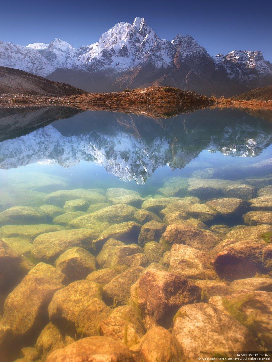 Непал, горы, озеро, Манаслу, Бимтанг, камни, отражение, Гималаи, треккинг, Антон Янковой (www.photo-travel.com)