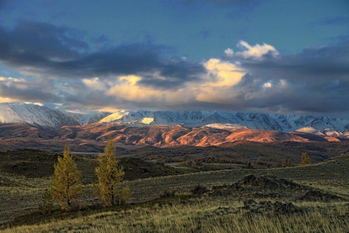 алтай, горный алтай, горы, рассвет, курай, северо-чуйский хребет, Галина Хвостенко