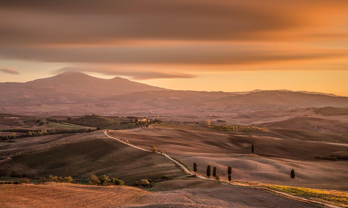 Tuscany, Italy, Longexposure, Long exposure, Lee, Hitech, Sunrise, Sunset, Belveder, Pienza, Val d'Orcia, Ryszard Lomnicki