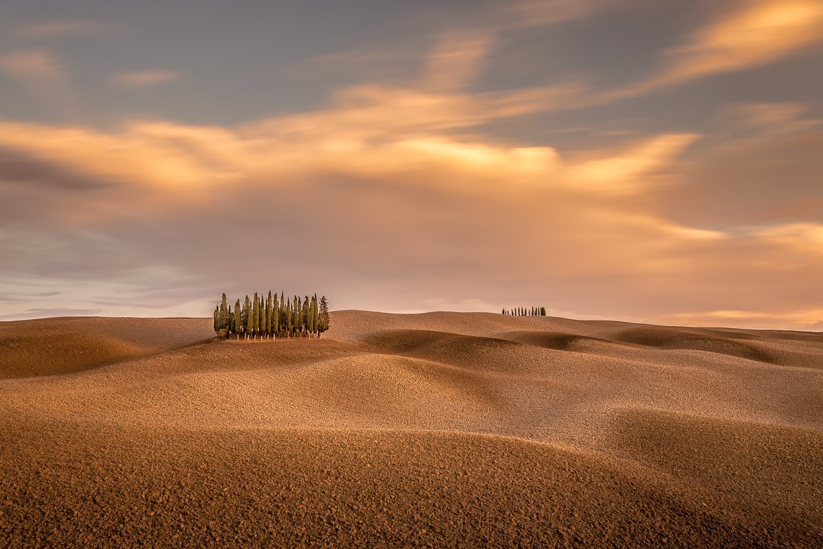 Tuscany, Long exposure, Longexposure, Pienza, Italy, Lee, Hitech, Sunrise, Sunset, Ryszard Lomnicki