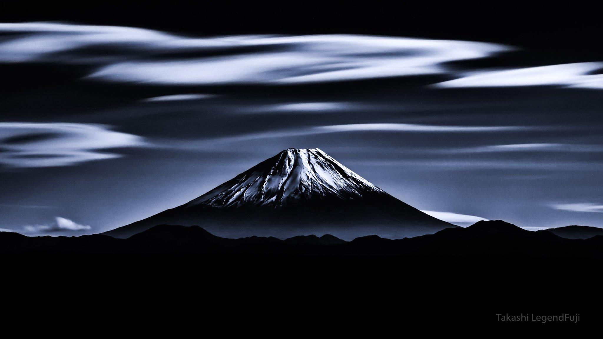 Fuji,mountain,Japan,clouds,landscapes,beautiful,amazing,sky,blue,, Takashi