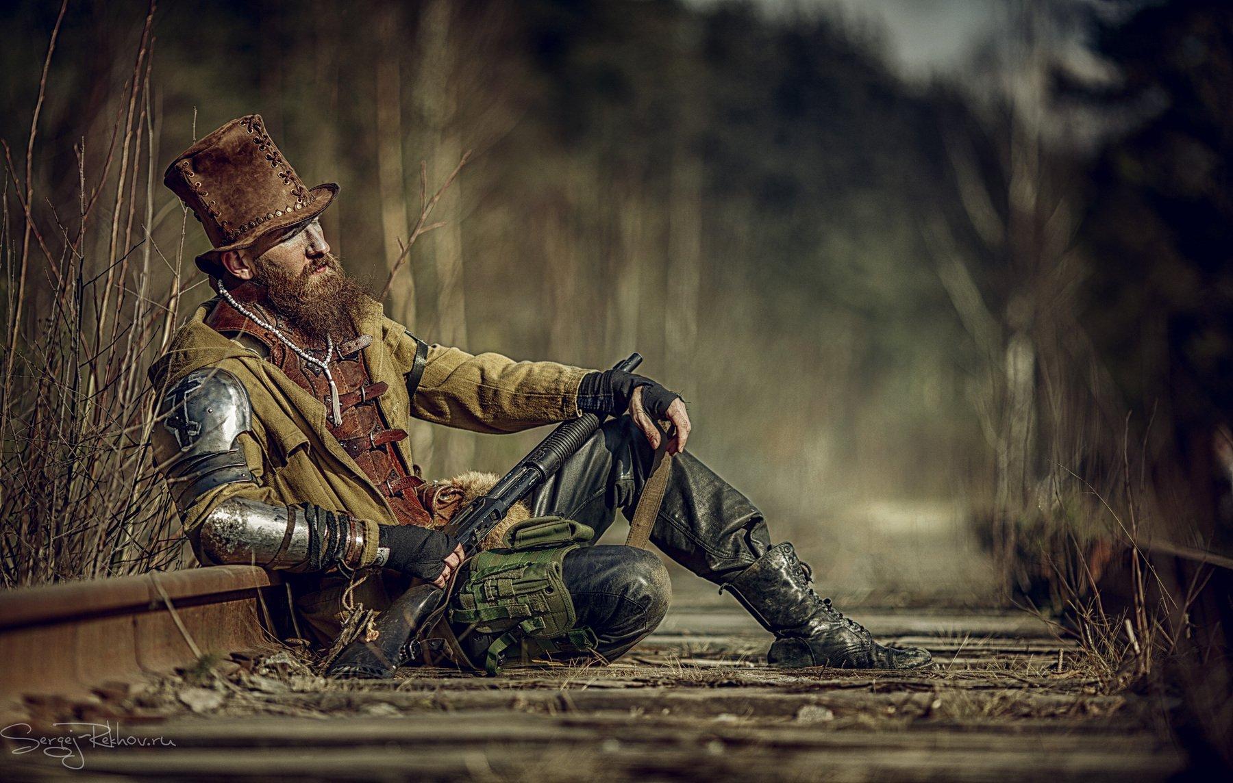 охотник, ведьма, ружьё, привал, Сергей Рехов