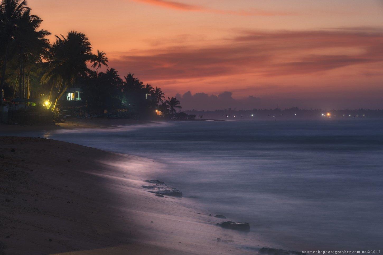 ланка, шри, пляж, хиккадува, океан, небо, тропический, вода, море, природа, пальма, пейзаж,  дерево, побережье, песок, путешествия, остров, красивый, отпуск, лето, рай, туризм, кокос,  солнечный, курорт, рассвет, день, закат, спокойный, живописный, спокой, Александр Науменко