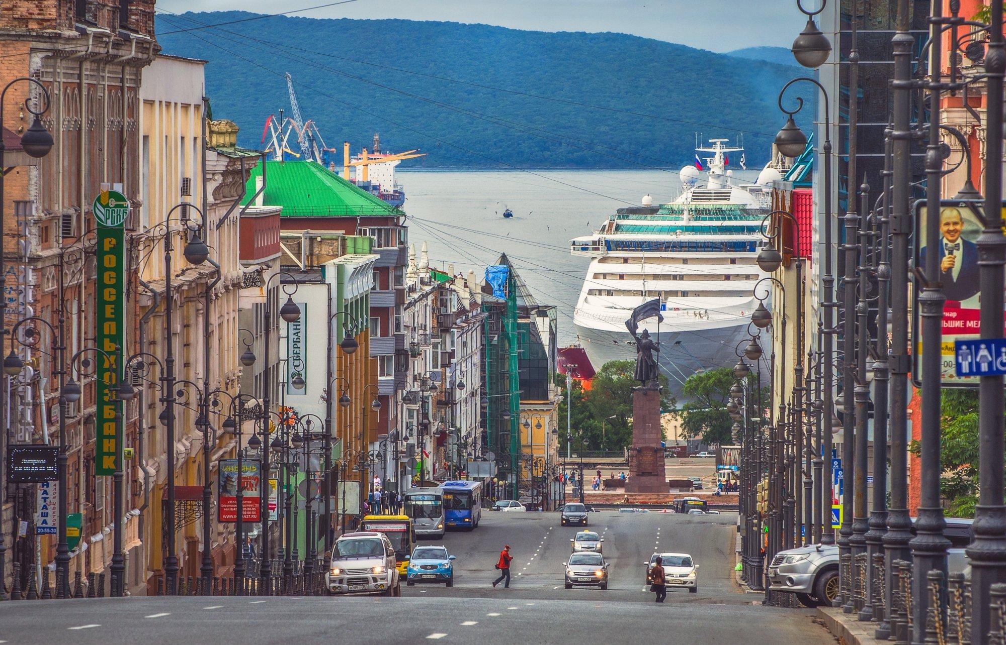 Город, порт, лайнер, Владивосток, Виталий Берков