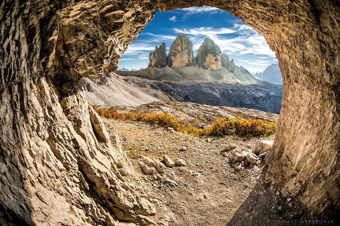 dolomiti, dolomities, italy, italia, summer, light, mountains, tre cime, lavaredo, tre cime di lavaredo, cave, Tomasz Wieczorek
