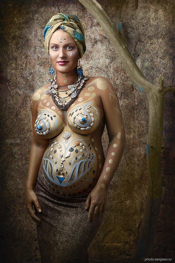 боди-арт, фото-арт, беременность, женщина, материнство, Сергеев Александр