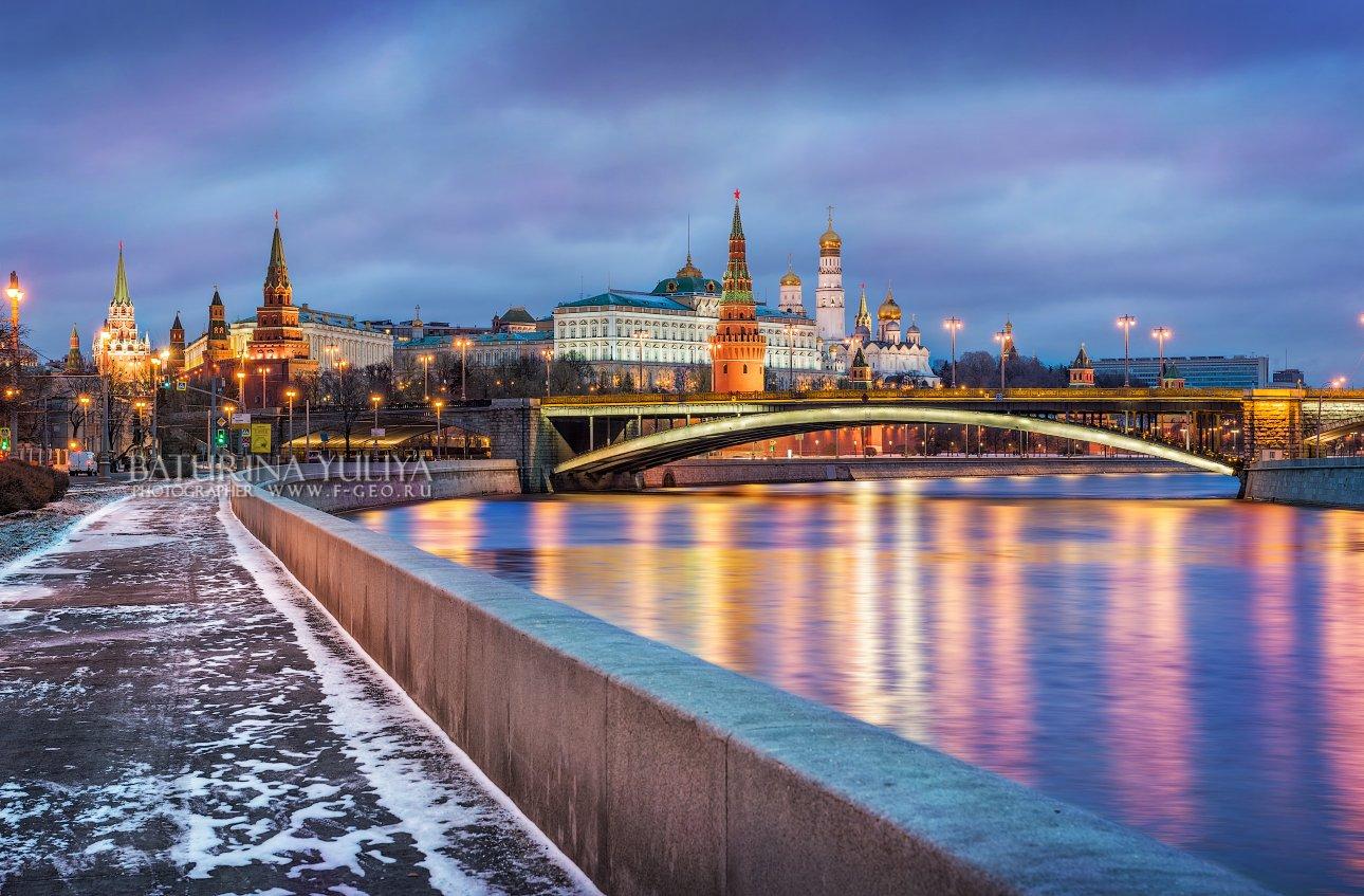 москва, кремль, мост, набережная, москва-река, зима, Юлия Батурина
