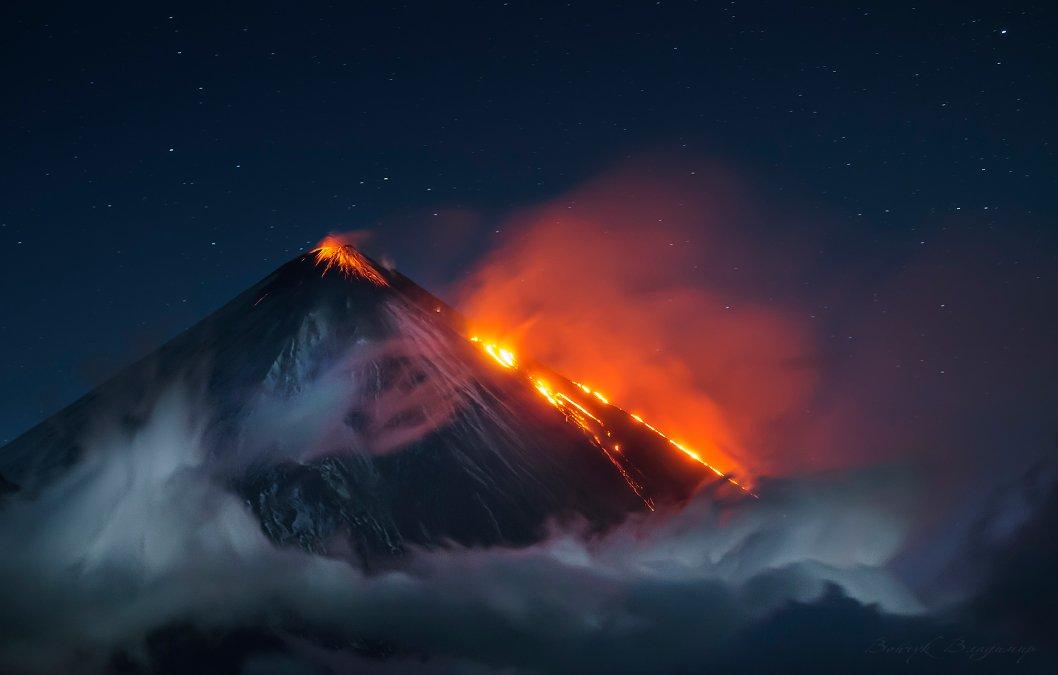 вулкан, ключевской, извержение, лава, ночь, ключевская, сопка, камчатка, 35awards, Войчук Владимир
