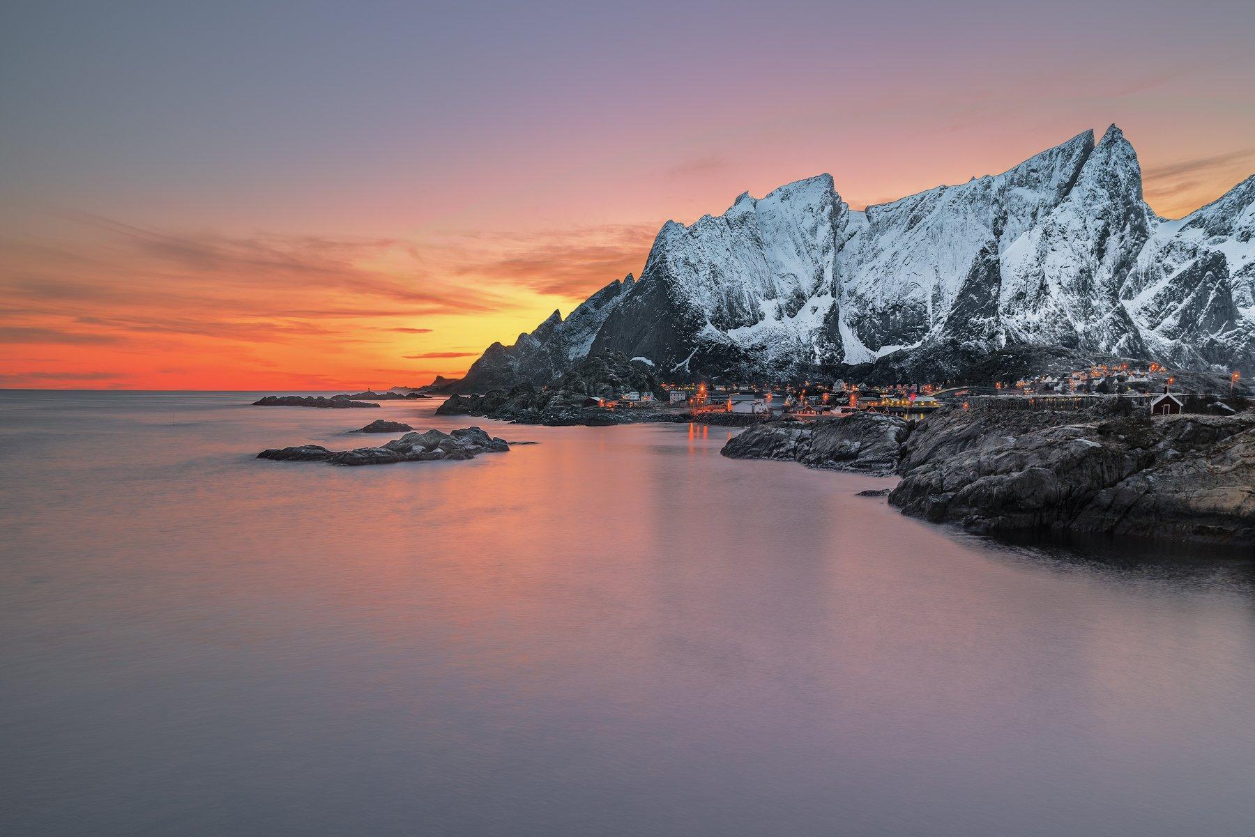 norway,mountains,lofoten,sunset,zeiss milvus 21mm,long exposure,, Felix Ostapenko