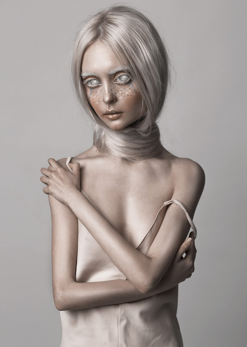 alien, photoshop, white eyes, , Dasha Chegarovskaya
