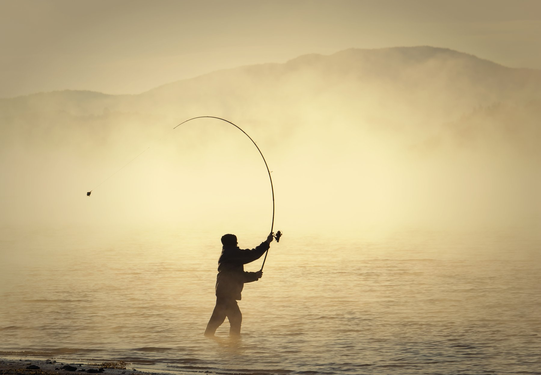 болгария, пейзаж, озеро, восход солнца, туман, landscape, fishing, carp, autumn,people, casting, sunrise, Genadi Dochev