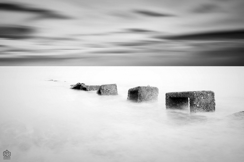 sea,nature,rock,water,calm,landscape,iran,dream,fog,abstract,canon,canon80d,canonphotography,blackandwhite,black,white,mphammadhemmaty, Hemmaty Mohammad