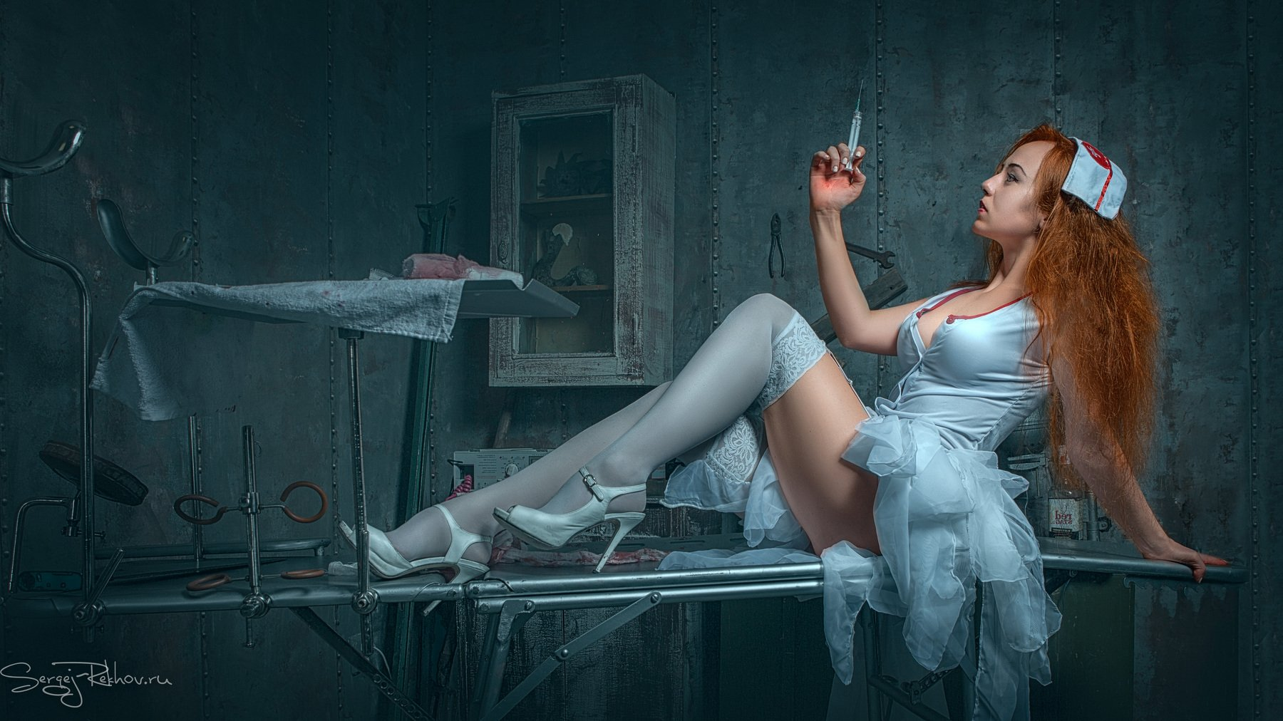 медсестра, больница, ночь, модель, девушка, медицина, Сергей Рехов