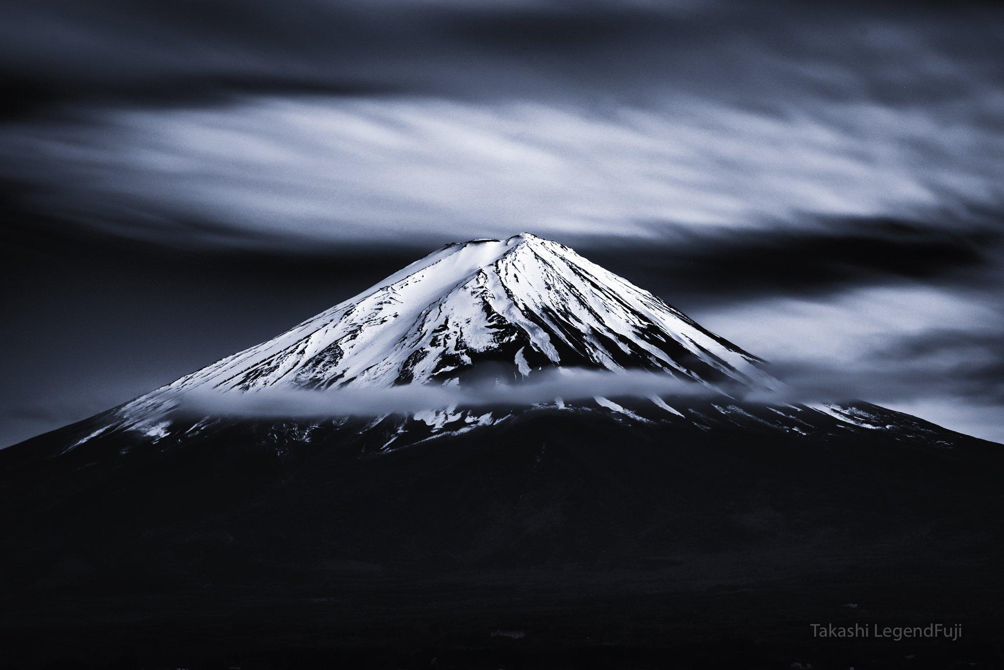 Fuji,mountain,Japan,clouds,snow,peak,summit,white,blue,sky,amazing,beautiful,, Takashi