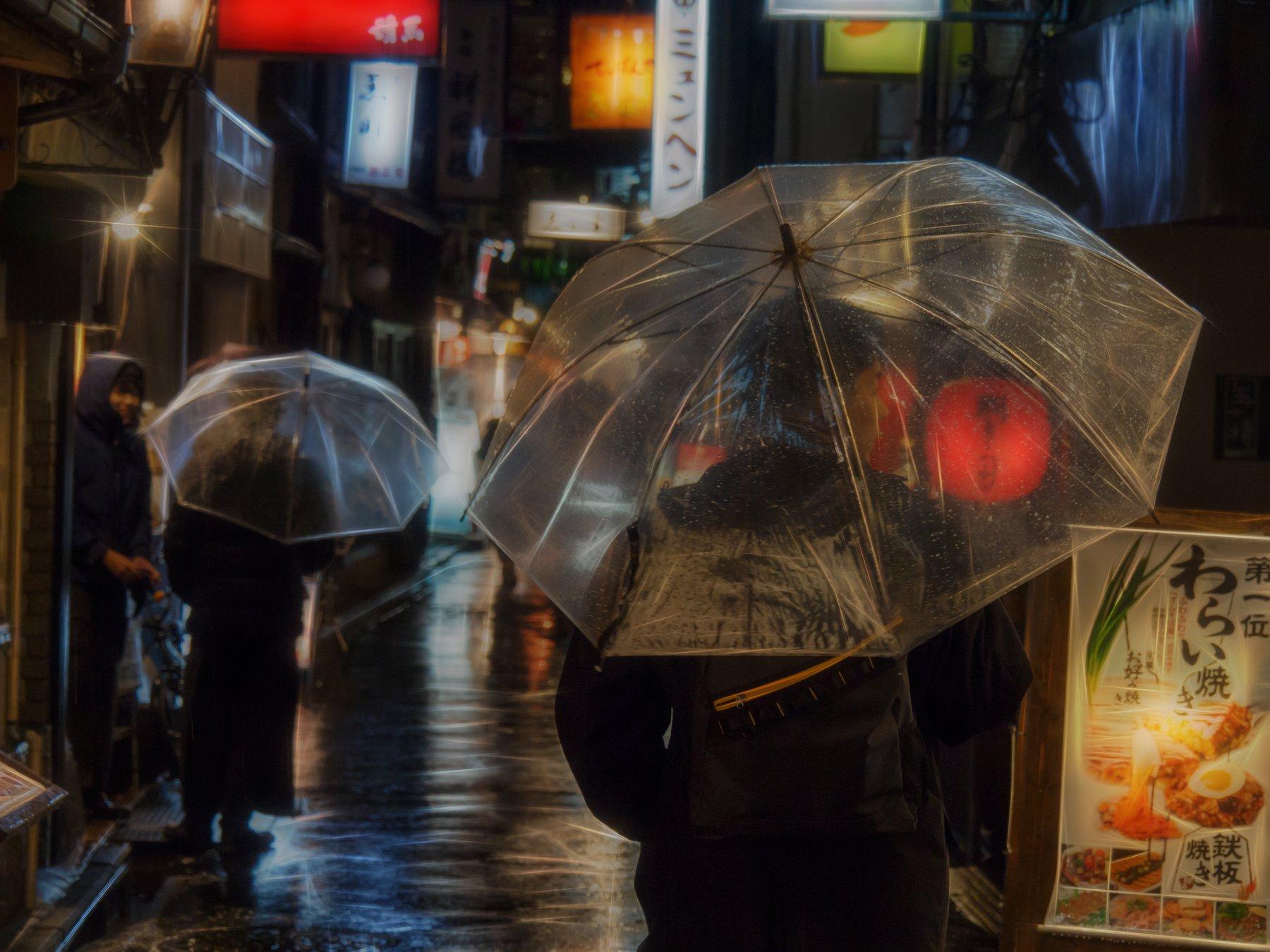 киото, япония, стрит, улица, путешествия, азия, погода, дождь, ночь, город, олимпус, Dmitry