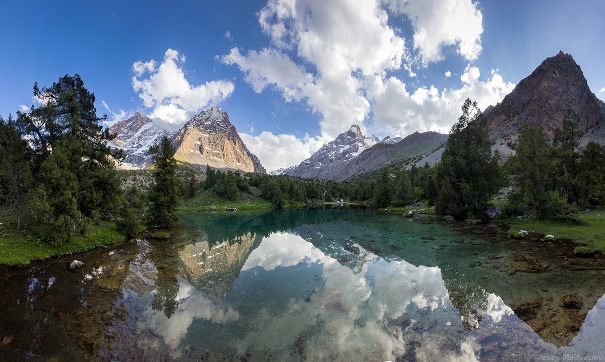 горы, скалы, Таджикистан, фаны, арча, горное, озеро,, Алексей Медведев