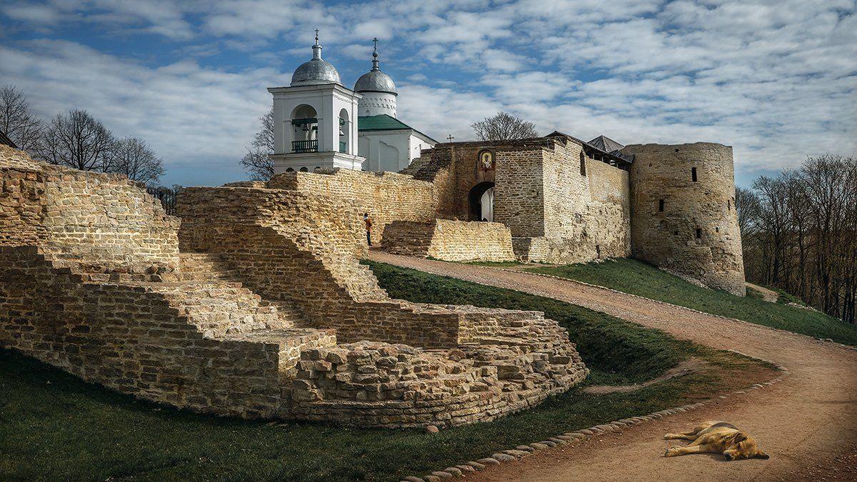 изборск,крепость,старина,развалины,история, Сергеев Александр