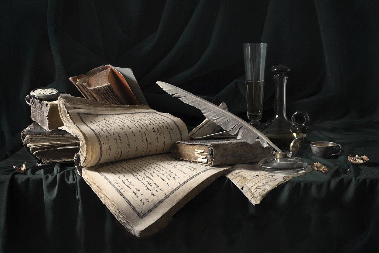 натюрморт, книги, still life, Евгений Корниенко