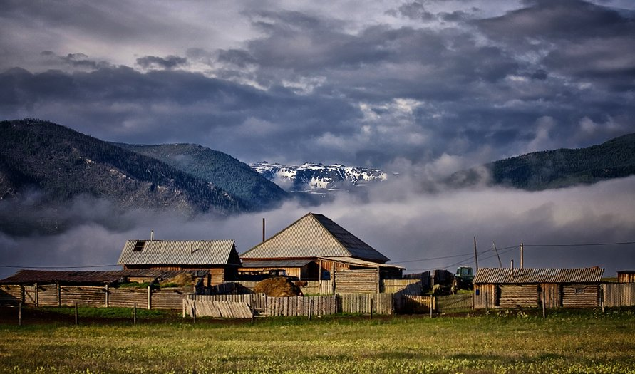 горный, алтай, джазатор, село, горы, Павел