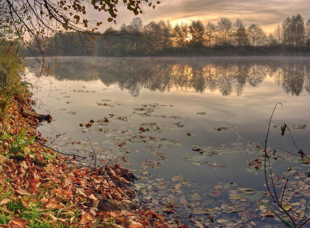 рассвет, утро, осень, пейзаж, Mishin Ilay
