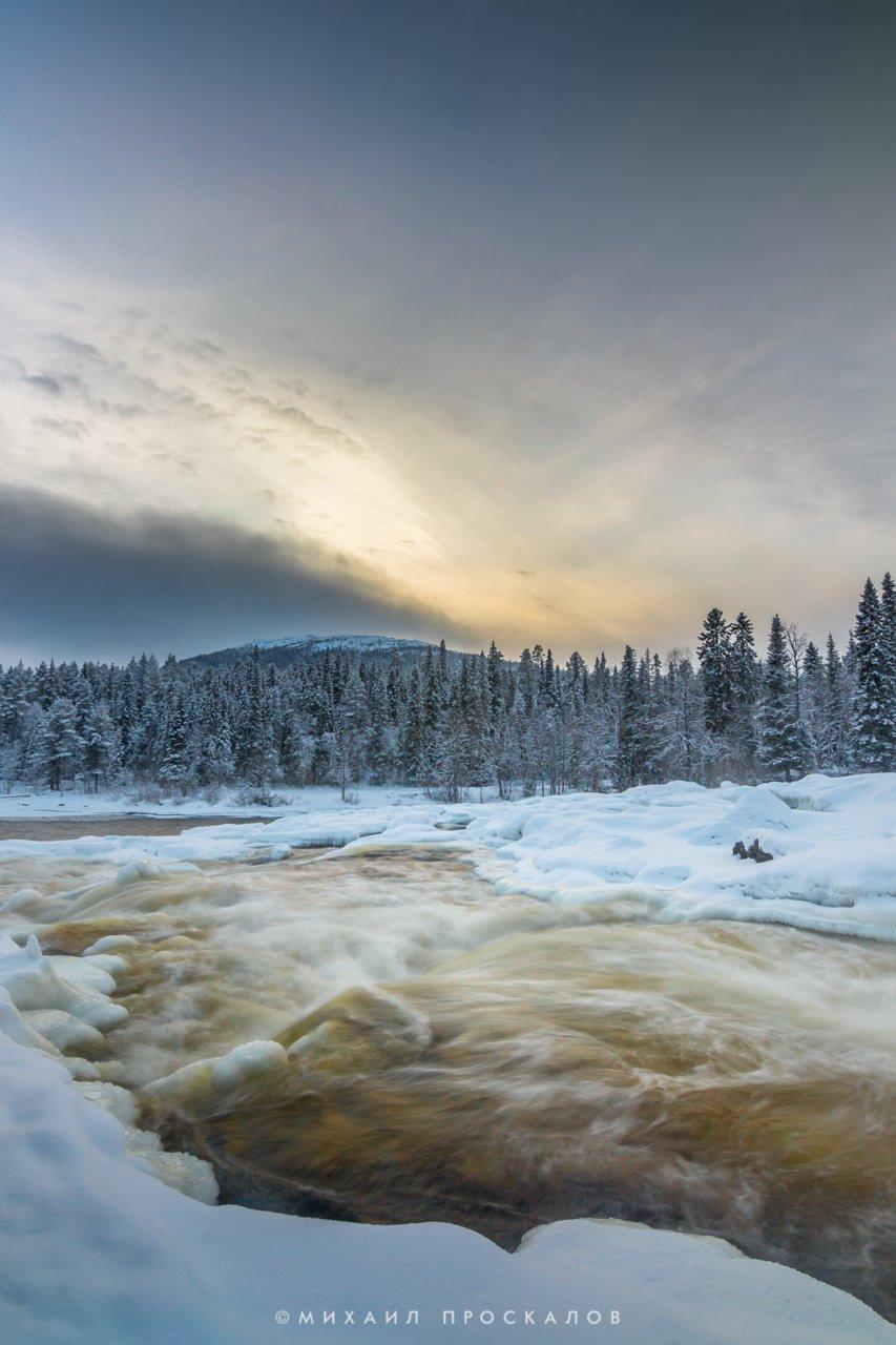 Карелия, Паанаярви, природа, зима, горы, путешествие, Михаил