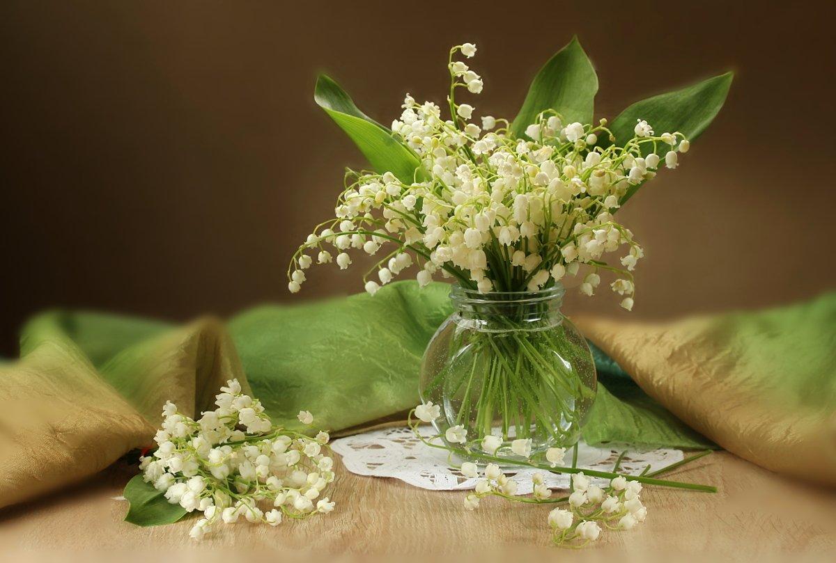 цветы, ландыши, салфетка, Шруб (Беляева) Татьяна