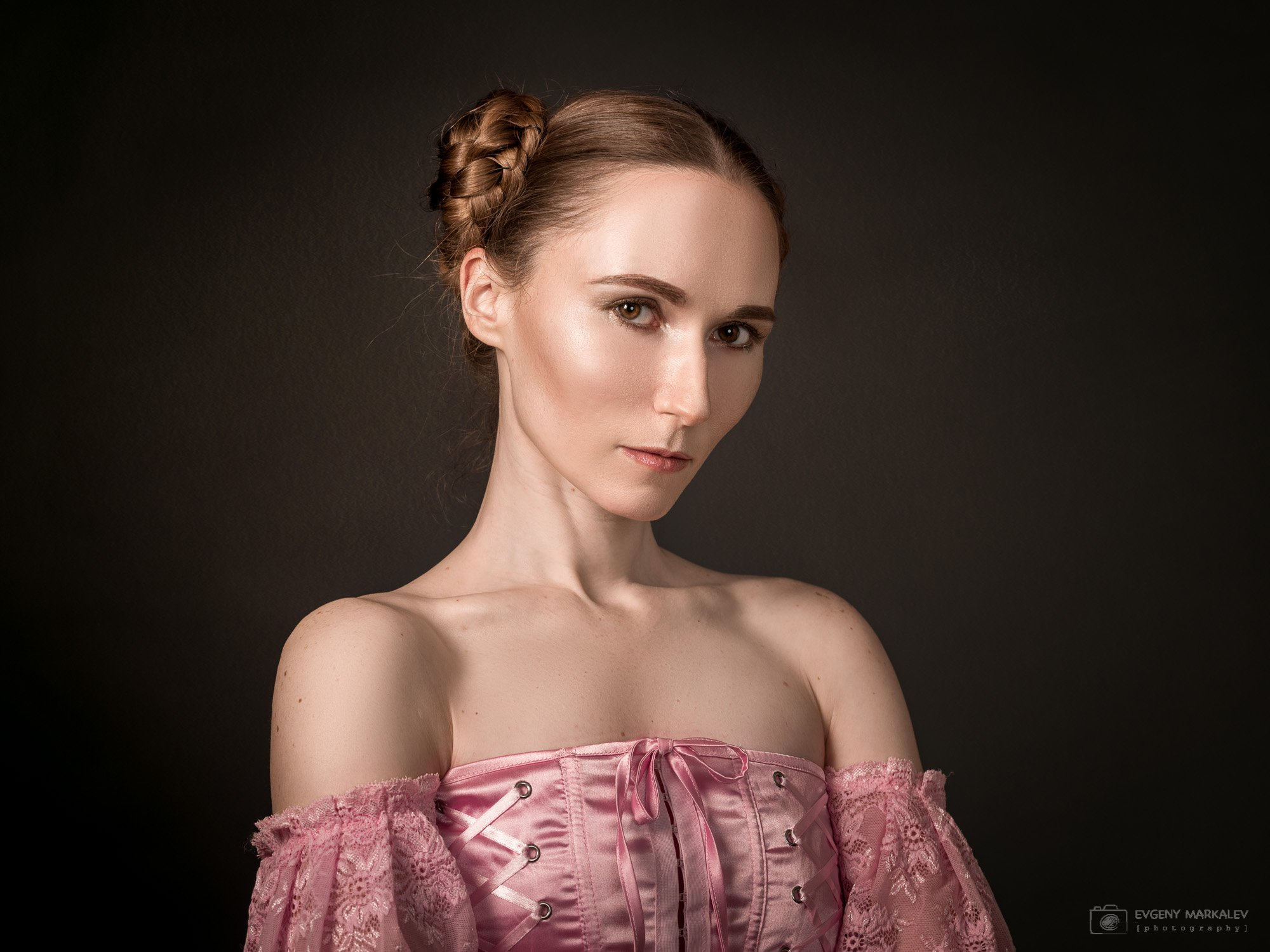 портрет, студийная съемка, девушка, Евгений Маркалев