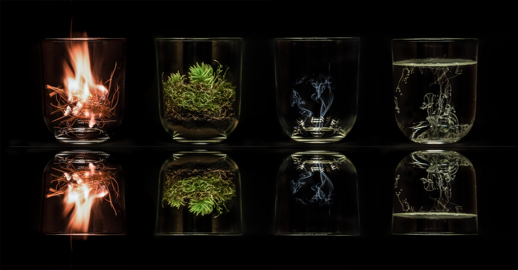 4 elements, concept, art, glass, 4 элемента, fire, hearth, water, air, abstract, art, 4, glass, black, reflections, 4 элементов, концепция, искусство, стекло, 4 элемента, огнь, очаг, вода, воздух, абстрактное, искусство, 4, стекло, черное, отражение, Antonio Bernardino