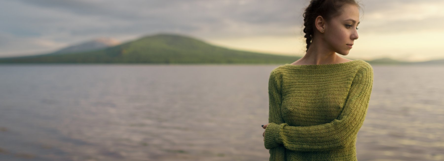 girl, portrait, nature, lake, ural, zuratkul, green, color, nice, mountains, mountain, russia, , Роман Филиппов
