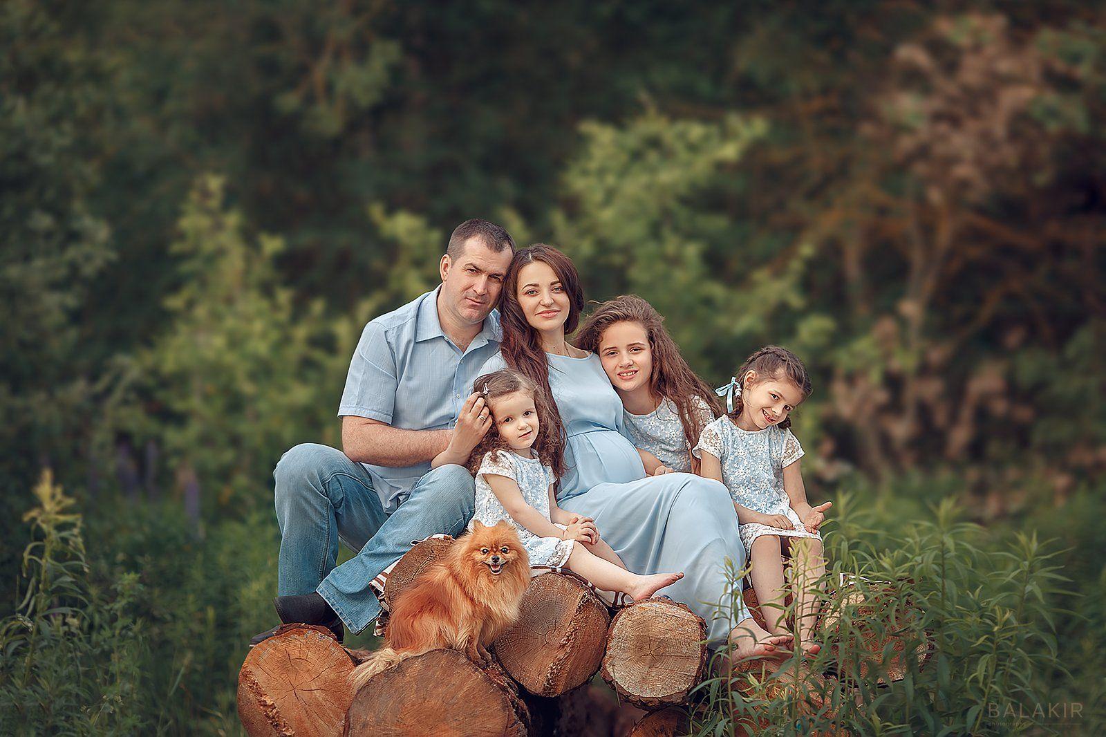 семья, портрет, дети, Ольга Балакир