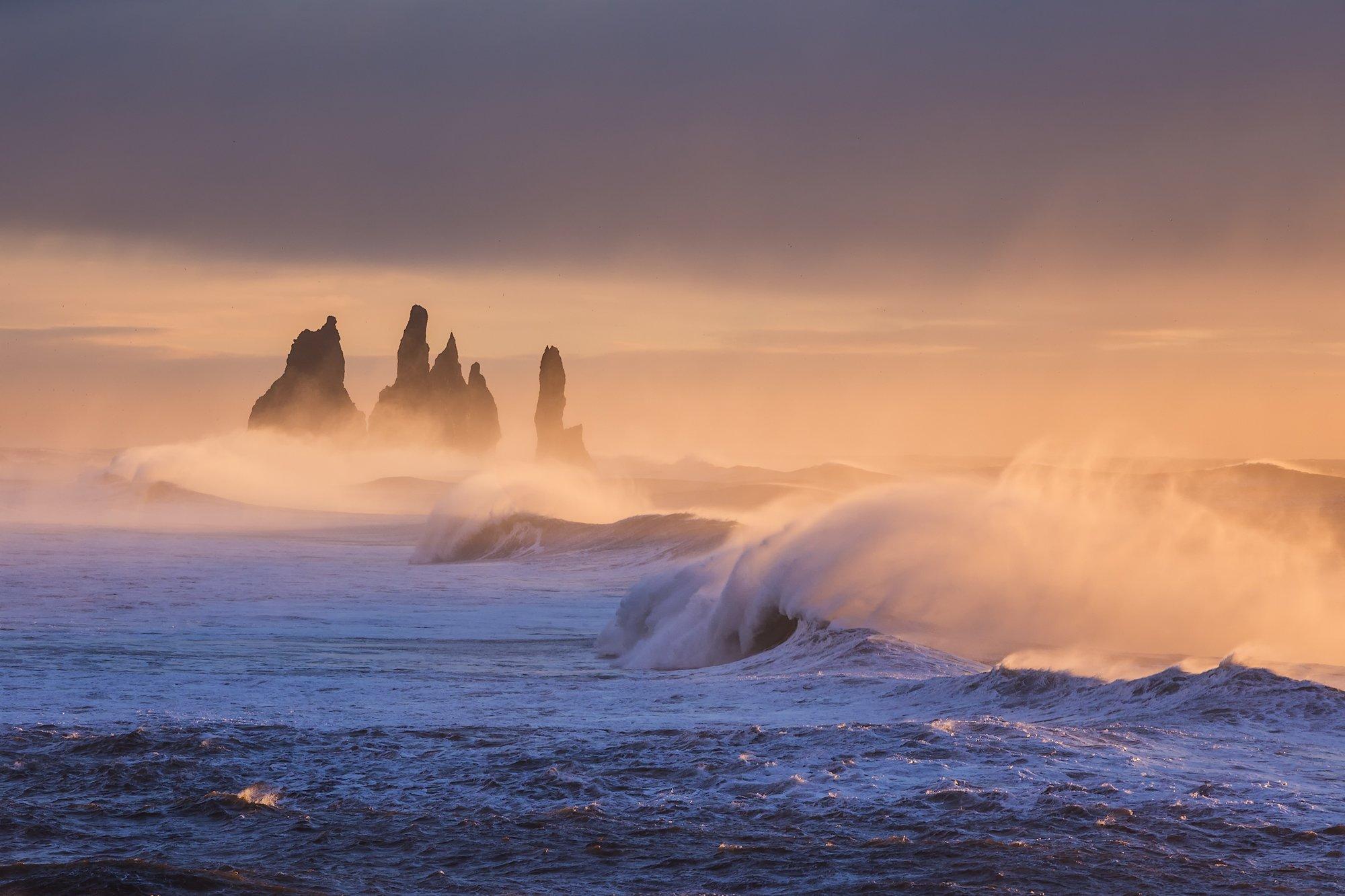 iceland reynisdrangar sunrise, Sergey Merphy