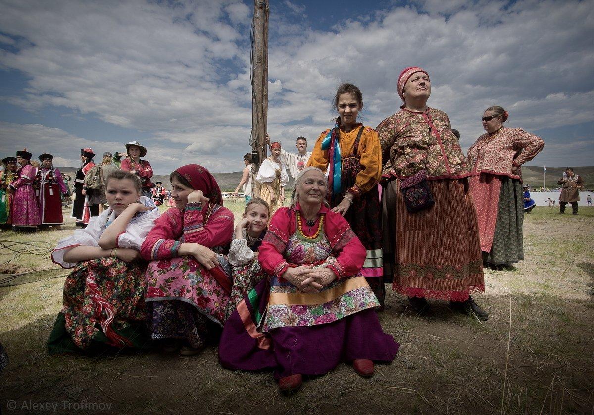 портрет, семейские, женщины, русские женщины, старообрядцы, Алексей Трофимов