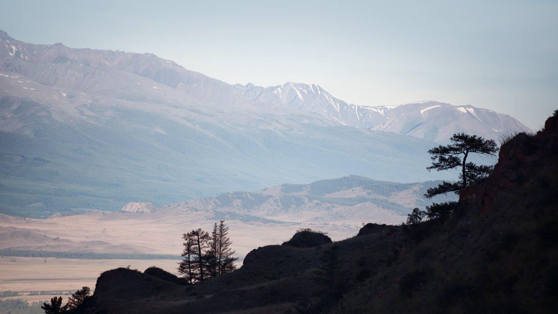 пейзаж, природа, степь, горы, камни, скалы, высокий, большой, красивая, Алтай, Курай, Сибирь, силуэт, Дмитрий Антипов